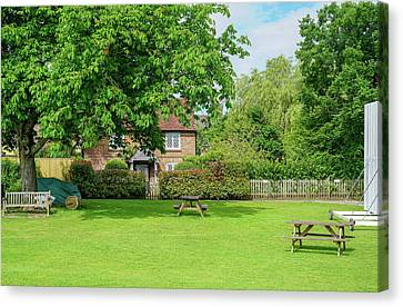 Canvas Print featuring the photograph Wisborough Cricket Green by Michael Hope