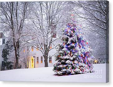 Wiscasset Maine Christmas Canvas Print by Benjamin Williamson