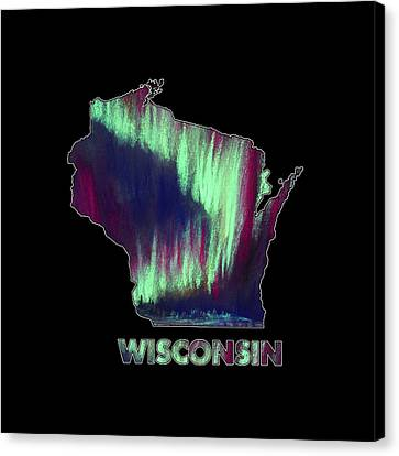 Wisconsin - Northern Lights - Aurora Hunters Canvas Print by Anastasiya Malakhova