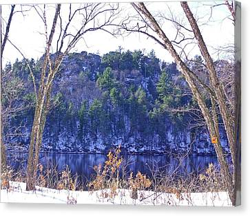 Wisconsin River 3 Canvas Print by Dave Dresser