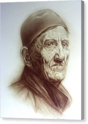 Wisdom Of Years Canvas Print by Nanybel Salazar