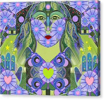 Wisdom Rising Canvas Print by Helena Tiainen