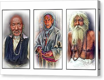 Tibetan Buddhism Canvas Print - Wisdom - Such A Long Journey 3 by Steve Harrington