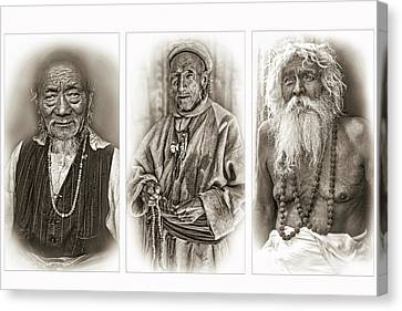 Tibetan Buddhism Canvas Print - Wisdom - Such A Long Journey - Sepia by Steve Harrington