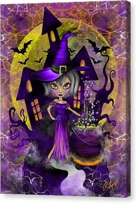 Wisdom Witch Fantasy Art Canvas Print