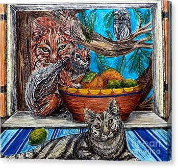 Wisdom Would Say Canvas Print by Kim Jones