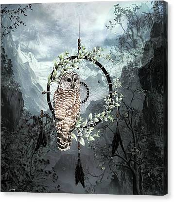 Dream Catcher Gallery Canvas Print - Wise Owl Dreamcatcher by G Berry