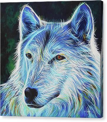 Wise White Wolf Canvas Print
