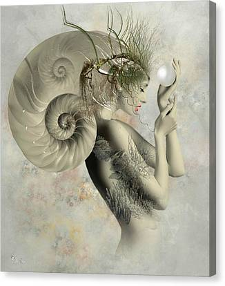 Wish On A Pearl Canvas Print by Ali Oppy