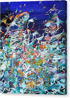 Canvas Print featuring the painting Wishes by Fabrizio Cassetta