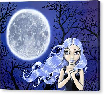 Wishing On The Moon Canvas Print by Lindsey Cormier
