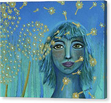 Wishing The Blues Away Canvas Print by Donna Blackhall