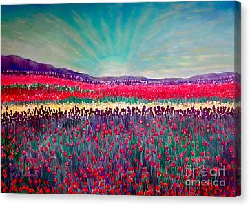 Wishing You The Sunshine Of Tomorrow Cropped Version Canvas Print by Kimberlee Baxter