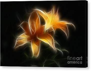 Wispy Lilies Canvas Print by Teresa Zieba