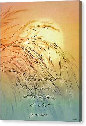 Wispy Sunset-7 Canvas Print