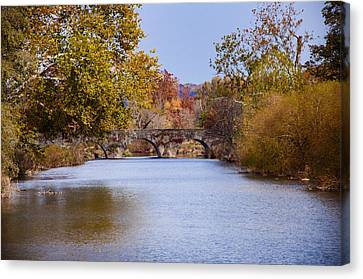 Wissahickon Autumn Canvas Print by Bill Cannon