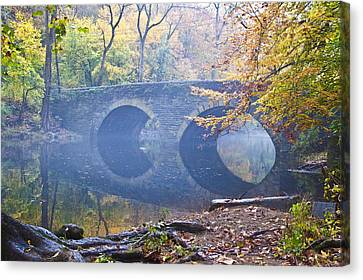 Wissahickon Canvas Print - Wissahickon Creek At Bells Mill Rd. by Bill Cannon