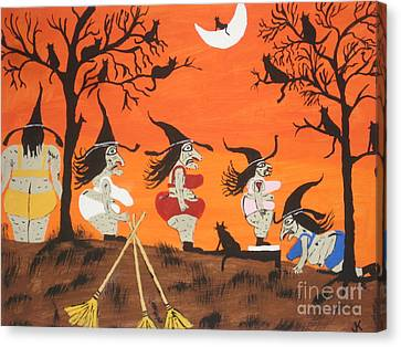 Well Endowed Canvas Print - Witches Biggest Loser by Jeffrey Koss