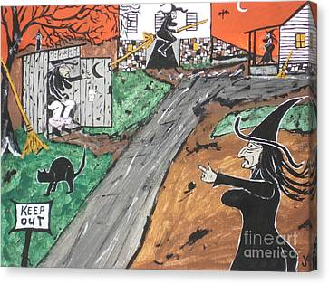 Witches Outhouse Canvas Print