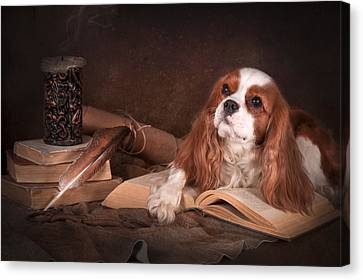 Canvas Print - With A Dog... by Tanya Kozlovsky