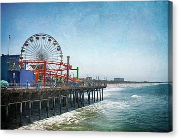 Roller Coaster Canvas Print - With A Smile On My Face by Laurie Search