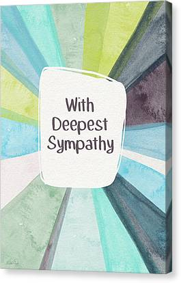 With Deepest Sympathy- Art By Linda Woods Canvas Print