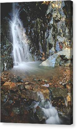 Water Flowing Canvas Print - With Heart And Soul by Laurie Search