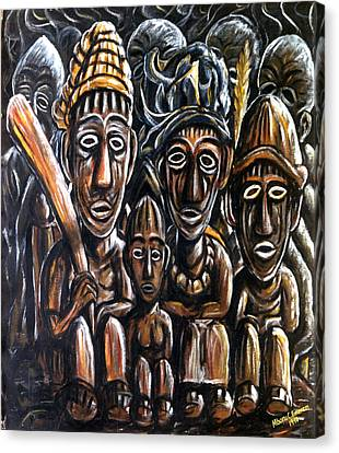 With Love A Family In Harmony Canvas Print by Mbonu Emerem