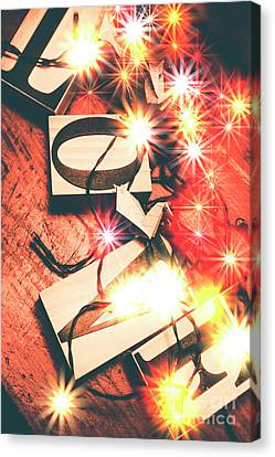 Glitter Canvas Print - With Love And Lights by Jorgo Photography - Wall Art Gallery
