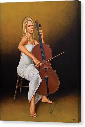 With Music In Her Soul Canvas Print