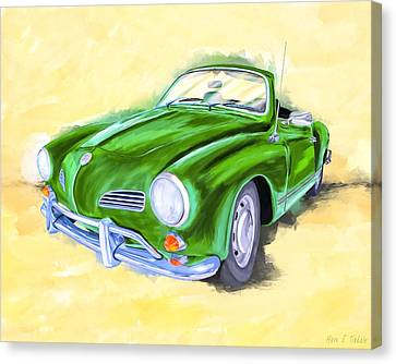 1960 Canvas Print - With The Top Down - Vw Karmann Ghia by Mark Tisdale