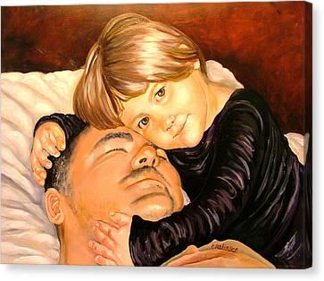 With These Hands--love Canvas Print by Carol Allen Anfinsen