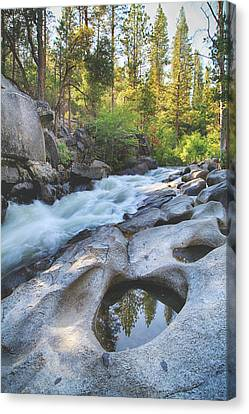 Water Flowing Canvas Print - With Words Unspoken by Laurie Search