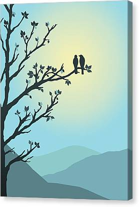 With You By My Side Canvas Print by Christina Lihani