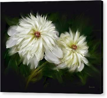 Canvas Print featuring the painting Withering Peony by Bonnie Willis