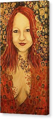 Within Desire - Golden Canvas Print