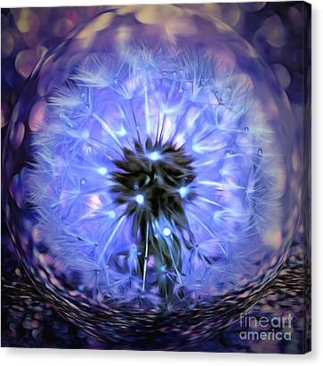 Floral Digital Art Canvas Print - Within This Wish by Krissy Katsimbras