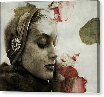 Canvas Print featuring the mixed media Without You  by Paul Lovering