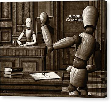 Witness For The Prosecution Canvas Print by Bob Orsillo