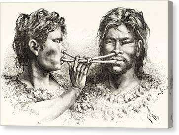 Witoto Or Huitoto Indians, Indigenous Canvas Print