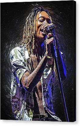 Lil Wayne Art Canvas Print - Wiz Khalifa by Semih Yurdabak
