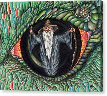Wizard In Dragon's Eye Canvas Print by Karen Musick