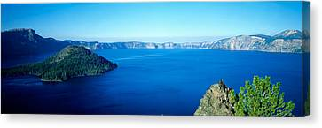 Wizard Island Canvas Print - Wizard Island At Crater Lake, Oregon by Panoramic Images