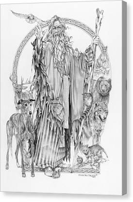 Greyhound Canvas Print - Wizard Iv - Wandering Wiseman - Pax Consensio by Steven Paul Carlson
