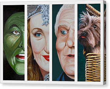 Wizard Of Oz Set Two Canvas Print by Vic Ritchey