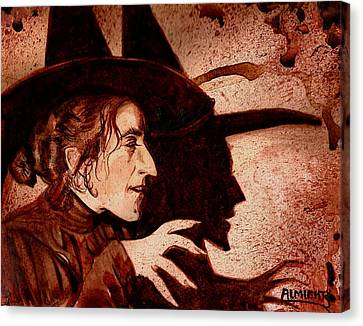 Wizard Of Oz Wicked Witch - Dry Blood Canvas Print by Ryan Almighty