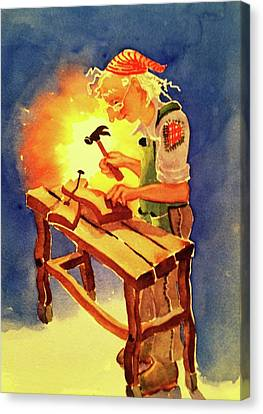 Canvas Print - Wizard's Workbench by Marilyn Jacobson