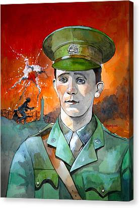 Canvas Print featuring the painting W.j. Symons Vc by Ray Agius