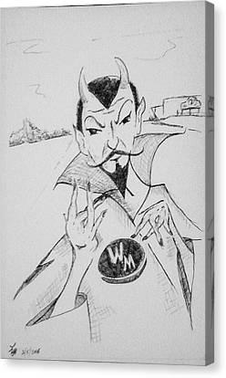 Wm Blue Devils Sign Canvas Print by Loretta Nash
