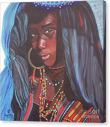 Blue Cat Productions             Wodaabe Girl Canvas Print